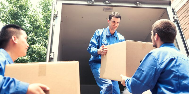 Movers Moving Boxes